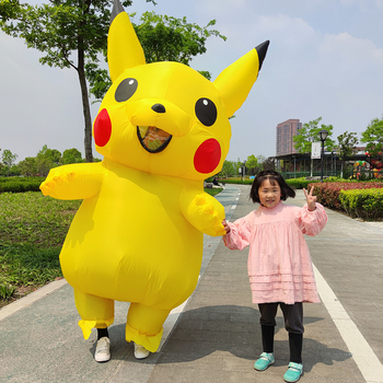 Yellow Inflatable Costume Anime Cosplay Mascot Carnival Fantasy Halloween Costumes for women Adult Kids movie quality costume 3d printed kids adult spandex superhero man costume for halloween mascot cosplay