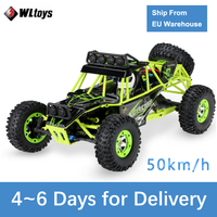 Wltoys 12428 50Km/h High Speed RC Car 1/12 Scale 2.4G 4WD RC Off road Crawler RTR Electric RC Climbing Car Toy for Kids