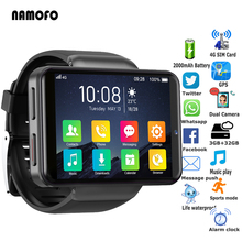 2000mAh 4G Smartwatch 2 4 #8221 Full Touch Screen 2MP+8MP Camera 3GB+32GB SIM Card GPS Android Sports Smart Watches For Men Women tanie tanio ALLCALL CN(Origin) Android OS On Wrist All Compatible 32 GB Passometer Fitness Tracker Message Reminder Call Reminder Answer Call