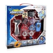 원래 상자 Beyblades 버스트 자이로 디스크 판매 금속 융합 BB807D 핸들 실행기와 경기장 세트 어린이 게임 완구 어린이