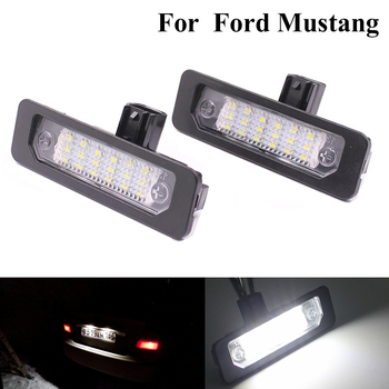 2 pcs Bright White Car LED Number Plate Light License Lamp For Ford Mustang 2010-2014 Focus Taurus Flex Fusion Mercury - discount item  35% OFF Car Lights