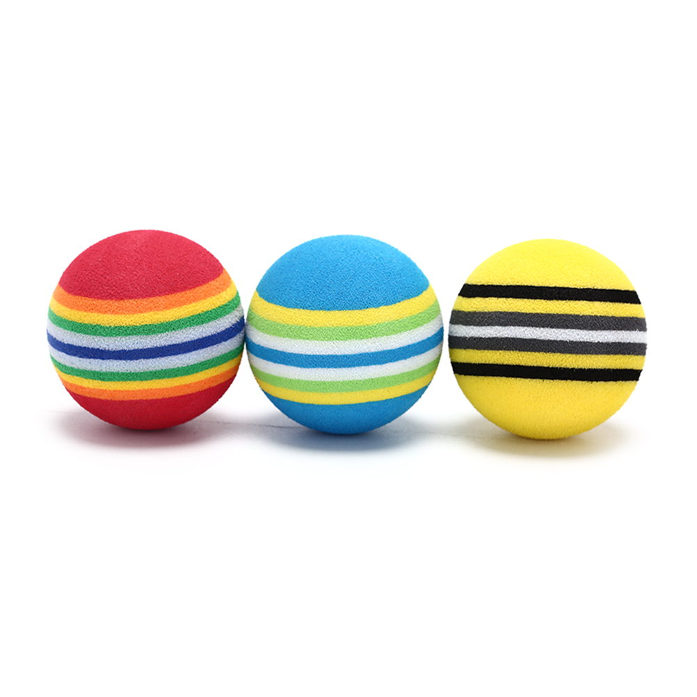 10Pcs Golf Sponge Soft Rainbow Balls  Golf Swing Training Balls Sponge Foam Golfer/ Tennis Sponge Golf Ball
