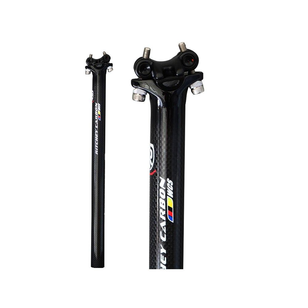 Spor ve Eğlence'ten Bisiklet sele postu'de 2020 karbon fiber bisiklet selesi  yol eyer/Mtb  bisiklet eyer 27.2/31.6*300/350/400mm bisiklet parçaları title=