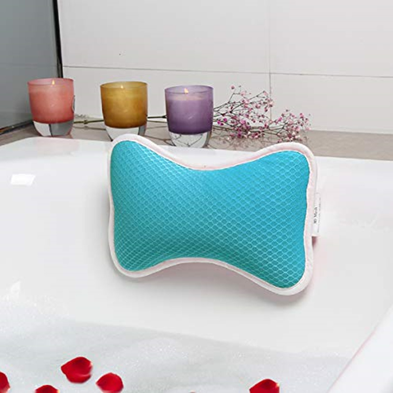 Comfortable Bath Pillow with Suction Cups, Supports Neck and Shoulders Home Spa Pillows for Bathtub Hot Tub bathtub accessories