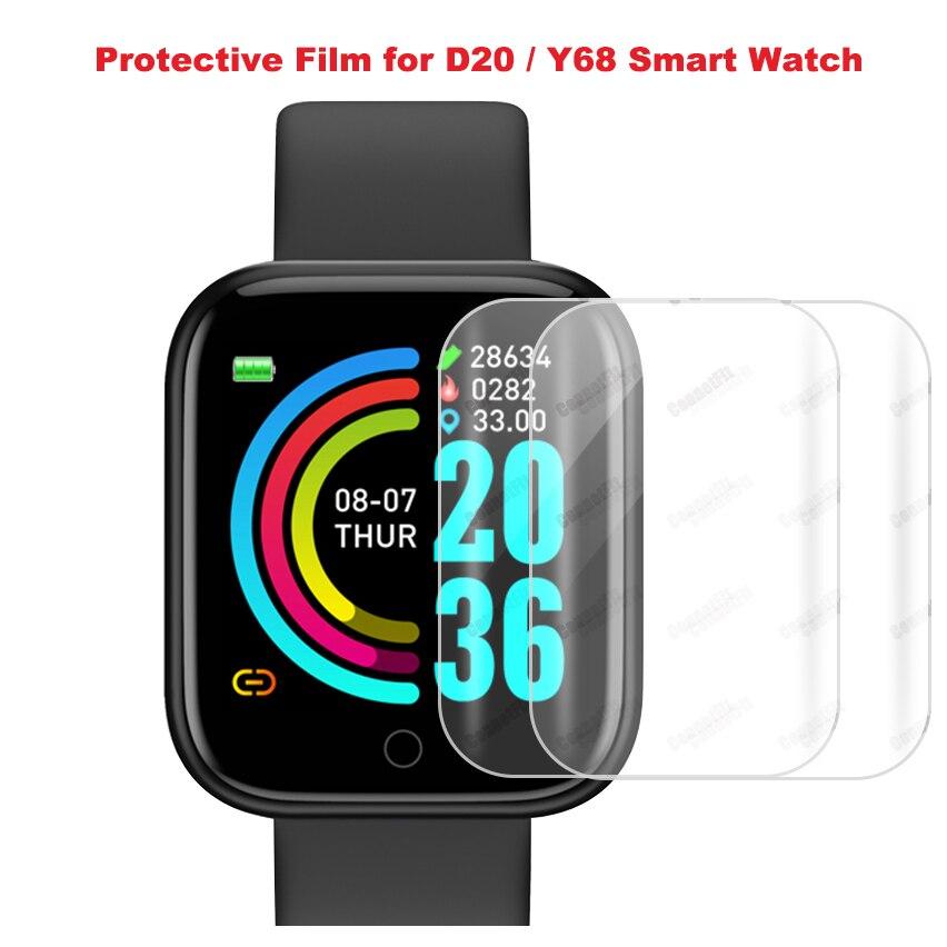 Полноэкранная термополиуретановая пленка для D20 D20pro защитная пленка HD устойчивая к царапинам мягкая защитная пленка для экрана стеклянная пленка для Y68 Smartwatch|Смарт-аксессуары|   | АлиЭкспресс
