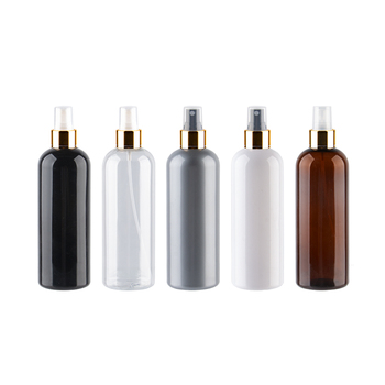 300ml x 20  Colored Refillable Cosmetic Bottles With Gold Mist Sprayer Pump Gray Transparent Bottle For Perfumr Liquid Medecine