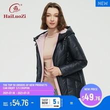 HaiLuoZi 2021 Spring Jacket Hits Color Slim Fashion Casual Short Parka Autumn Coat Women Zipper Outwear Hooded Ladies Jackets 56