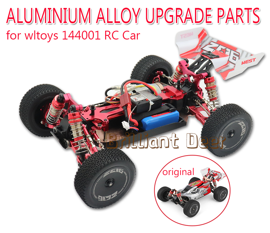 Upgrade Parts Metal Radio Tray for Wltoys 1//14 144001 RC Car Parts Red