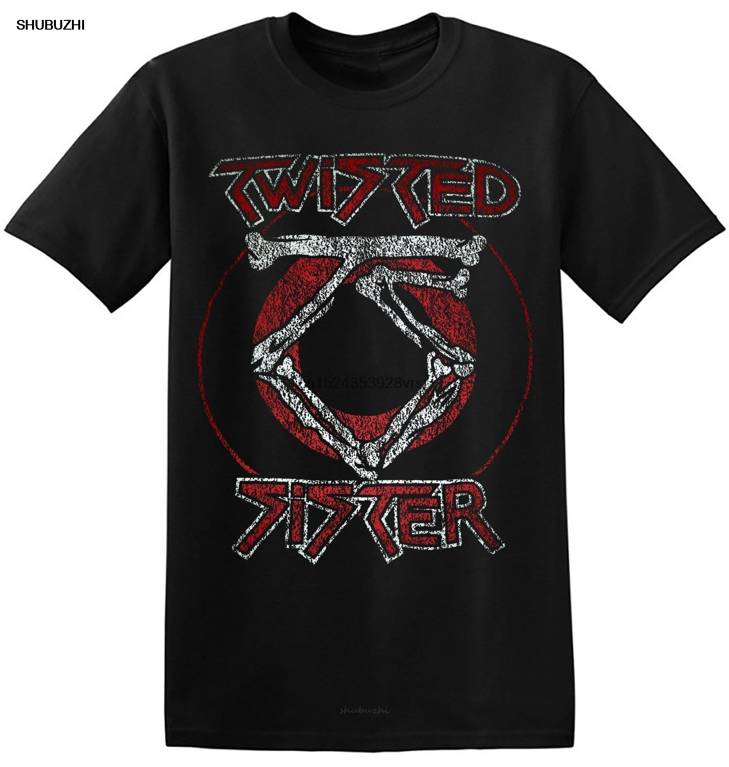 Twisted Sister T Shirt Cool New Black Graphic Print Heavy Rock Band Tees 1-A-202 Hip Hop Tee T Shirt top tee Fashion T Shirt