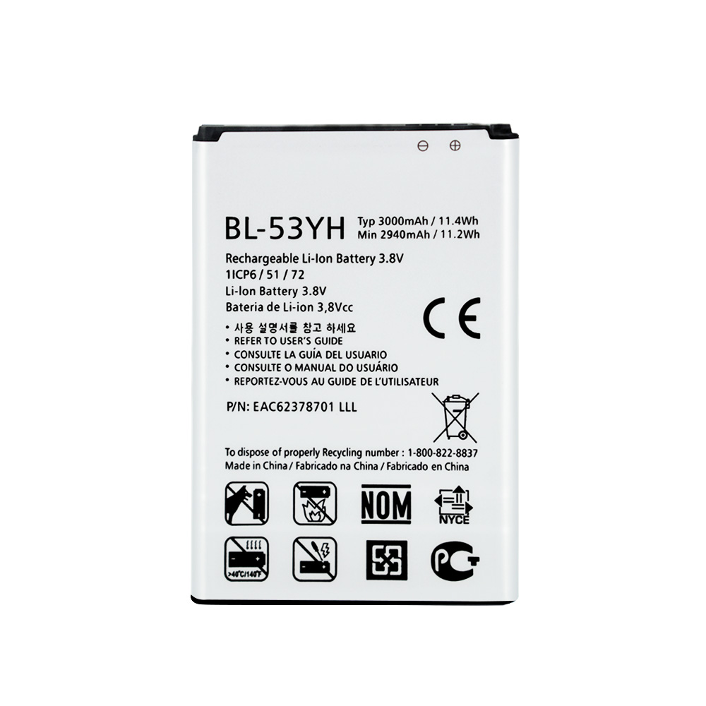High Capacity Original BL-53YH Battery For LG G3 D855 D850 D858 D859 F460 Real 3000mAh High Quality Mobile Replacement Battery