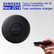 Original Samsung Fast Wireless Charger Stand For Galaxy S10 S9 S8 Plus S7 edge Note10+ 9 /iPhone 8 Plus X, 10W Qi Pad EP-P1100(China)