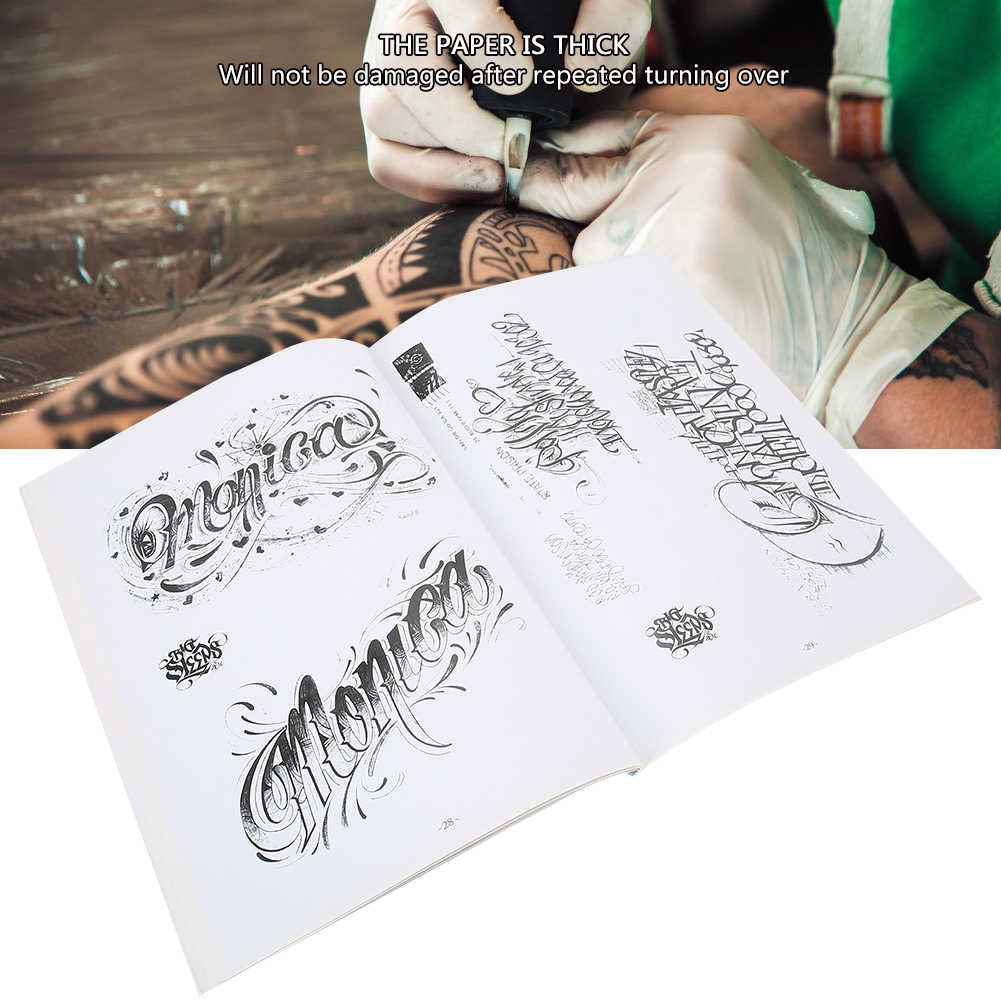 44 Pagina 'S Art Brief Patroon Tattoo Boek Tattoo Practice Template Boek Accessoires Voor Microblading Tattoo Printer Make Machine