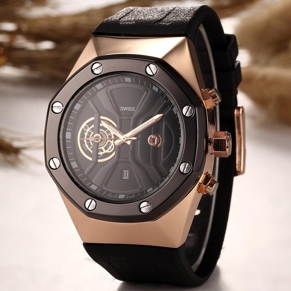 Luxury Brand Quartz Origin Silicone Watch Men 2019 Sport Vintage Rubber Men Wristwatch Waterproof Watch Unique Personality