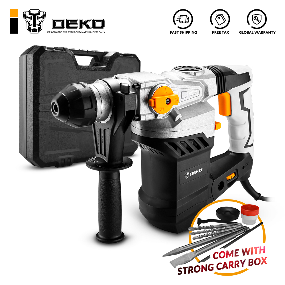 DEKO DKRH32LD1 2000W 220V Multifunctional Rotary Hammer with BMC and 6pcs Accessories Electric Demolition Hammer Impact