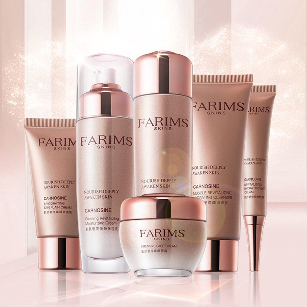 6pcs/set Universial Face Skin Care Facial Cream Moisturizing Whitening Brightening Firming Anti-aging Cosmetics Kit Women Waterproof, Shock-Resistant And Antimagnetic