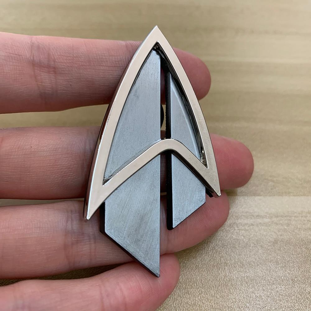 Admiral JL Picard Pin The Next Generation Communicator Pin Brooches Badge Star Accessories Trek Badge Metal