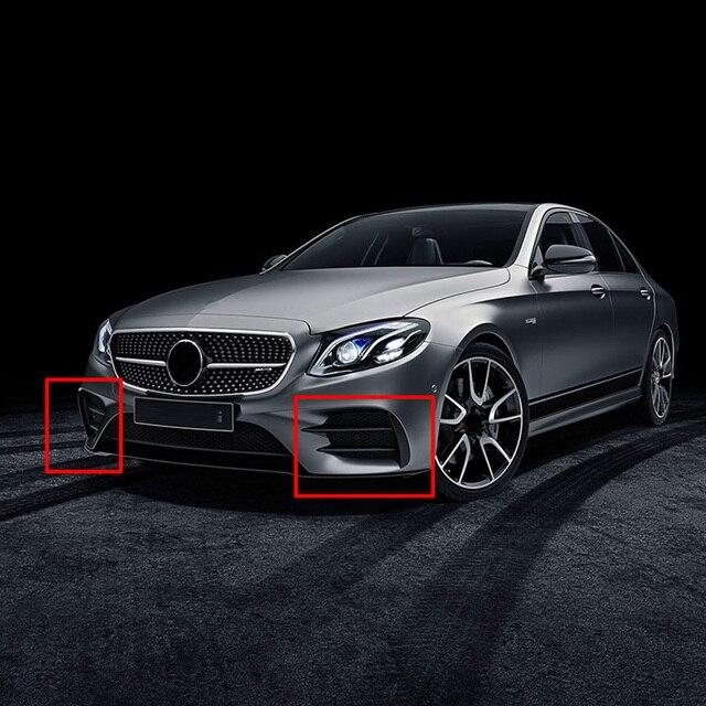 For Mercedes Benz E Class W213 2016-2019 E43 E53 AMG Car Exterior Body Side Front Bumper Lip Trim Cover Stickers Car Accessories 5