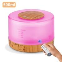 Ultraschall-luftbefeuchter 500ML Mit Fernbedienung Aroma Öl Diffusor für Home Xiomi Nebel Maker mit 7 Farben LED nacht Lampe