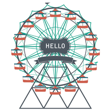 AZSG Ferris Wheel Clear Stamps/Seals For DIY Scrapbooking/Card Making/Album Decorative Silicon Stamp Crafts