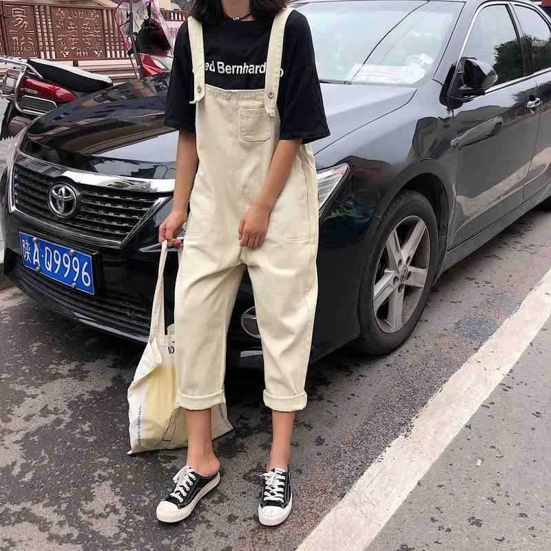 New Fashion Trendy Lovely Korean Style Jumpsuits Casual Denim Overalls Womens Sweet School Student Women jumpsuit