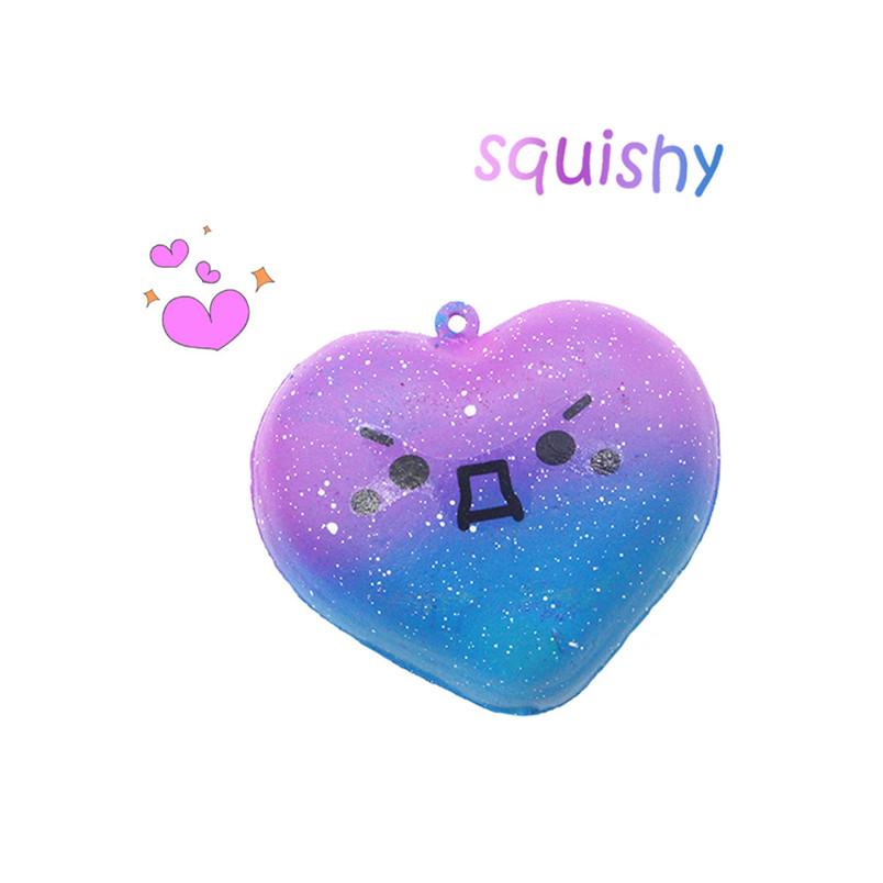 Cute Kawaii Galaxy Love Heart Squishy Slow Rising Cartoon Cream Scented Stress Relief Toy Slow Rising Funny Gadgets 30JAN10