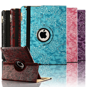 "New 3D Painter Case For Ipad 5 6 360 Rotating Grape Pattern Flip Smart PU Leather For Ipad Air 1 Air 2 Ipad 9.7 2017 2018 9.7""(China)"