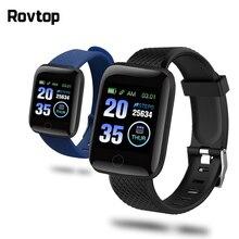 116 mais pulseira inteligente d13 esportes pulseira de fitness d18 medição da pressão arterial pedômetro smartband relógio inteligente