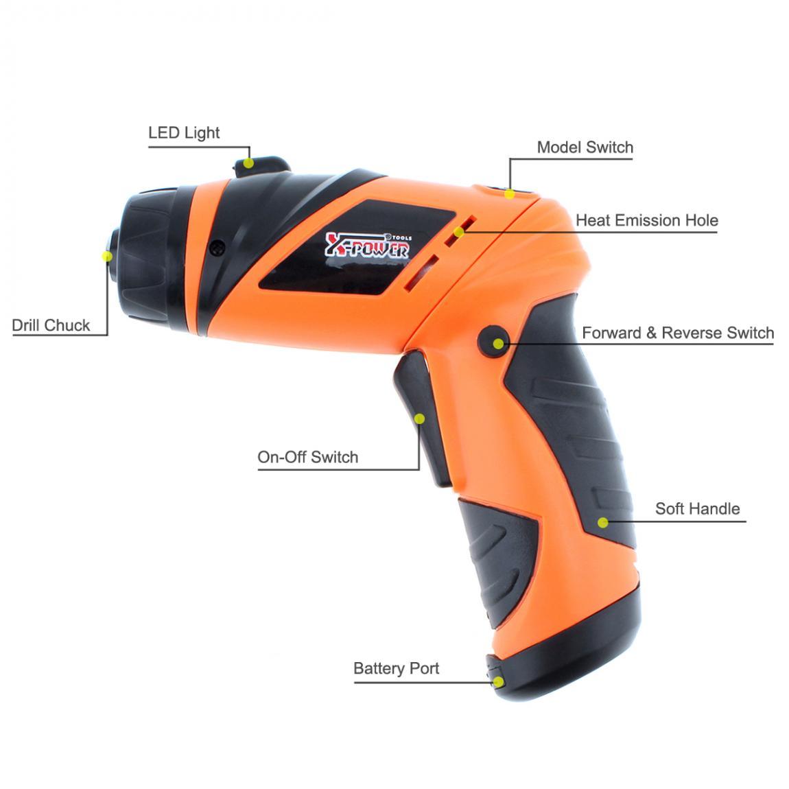 Destornillador de mano Destornillador eléctrico inalámbrico de 6 V - Herramientas eléctricas - foto 2