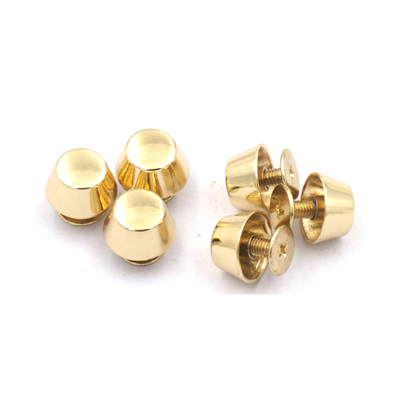 Metal Bag Accessories Feet Rivets Studs Screws For Purse Handbag Leather DIY Crafts Gold