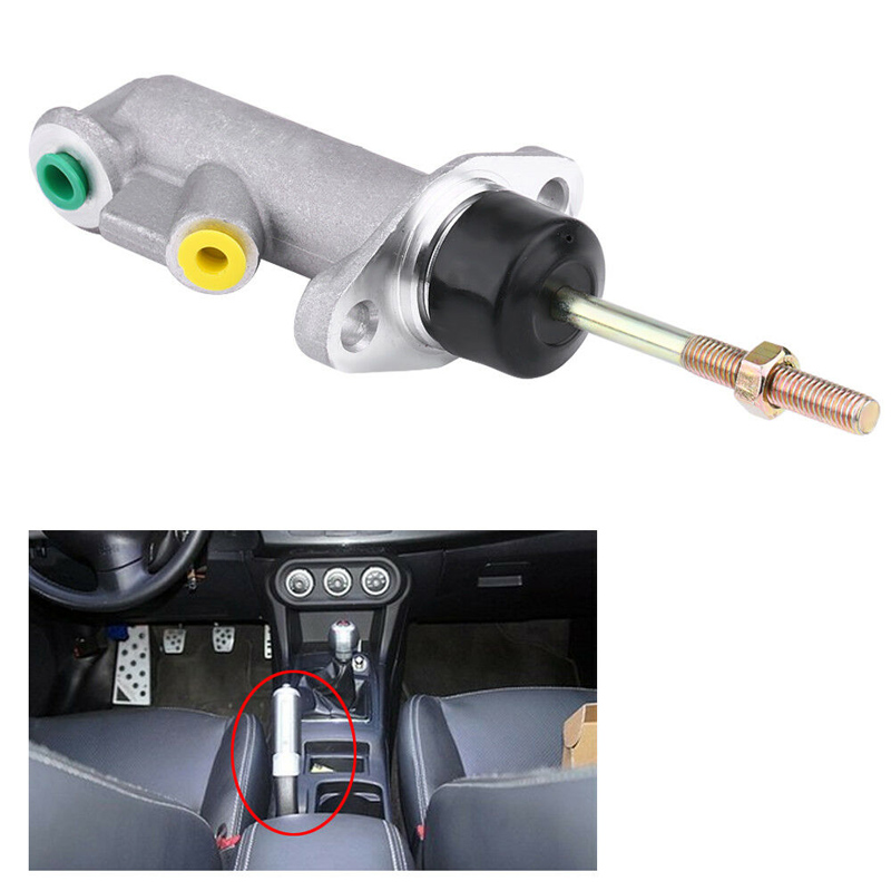 Aluminum Alloy Car Brake Clutch Master Cylinder 0.75 Bore Remote for Hydraulic Hydro Handbrake Brake Clutch Master Cylinder