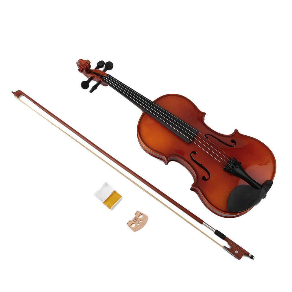 Professional Spruce Solid Wooden 4/4 Violin Lacquer Light Fiddle 4-String Instrument Maple Solid Wooden Both Beginner from Ru image