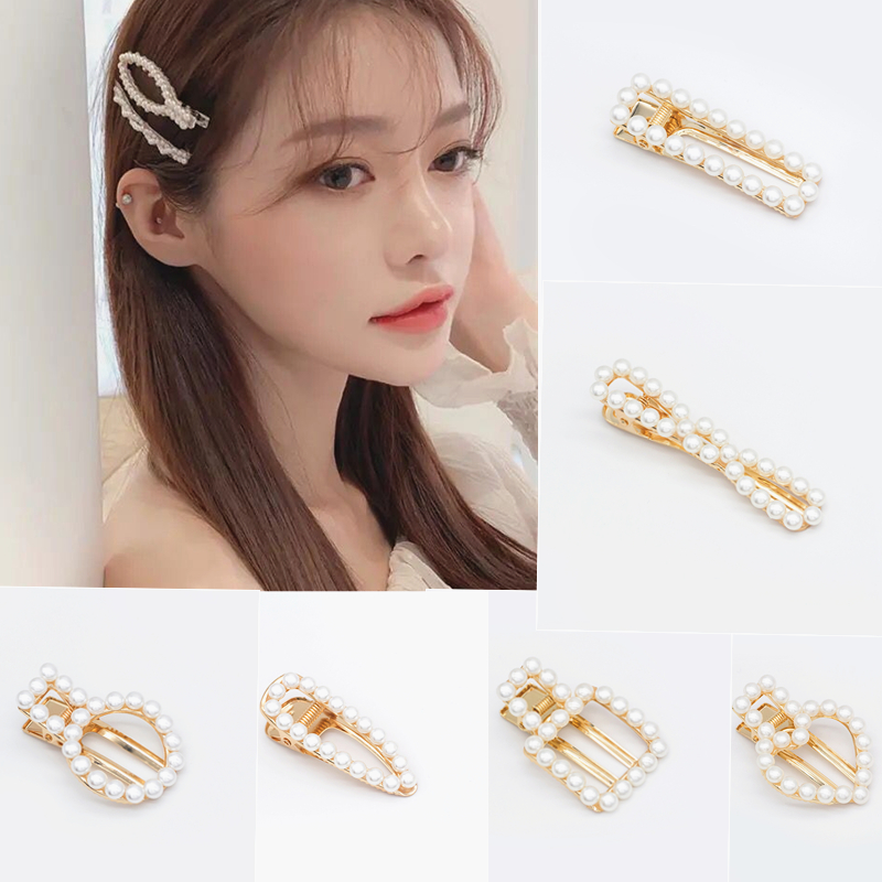 2019 Fashion Pearl Beads Hair Clip Barrette Handmade Stick Hair Clips Hairpin For Girls Hair Accessories Styling Tool