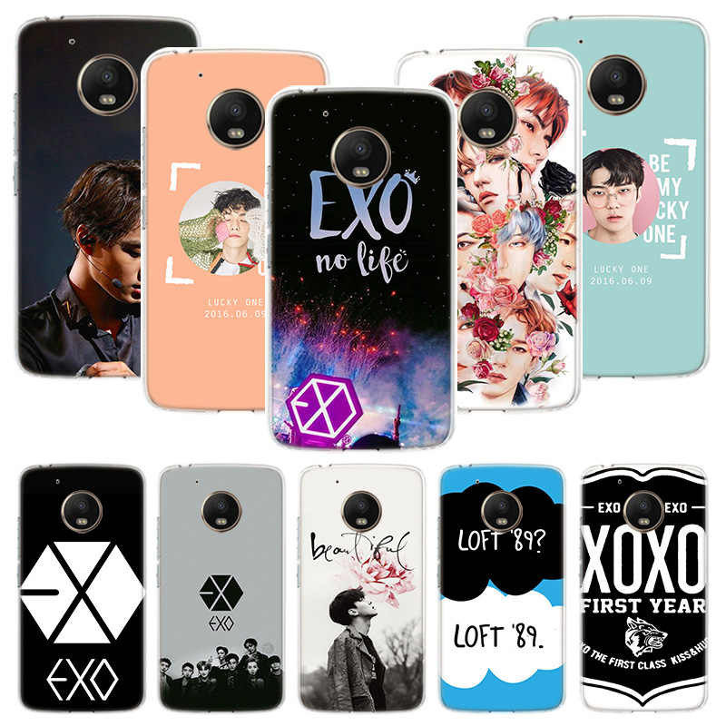 EXO band k-pop kpop Case For Motorola Moto G7 G6 G5S G5 E4 Plus G4 E5 Play X4 Power TPU Patterned Customized Phone Cover