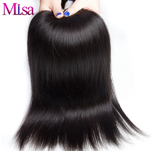 Image 3 - Mi Lisa 3 Bundles With Frontal Malaysian Straight Hair Weave Remy Human Hair Bundle and 13x4 Lace Frontal Closure with Bundles