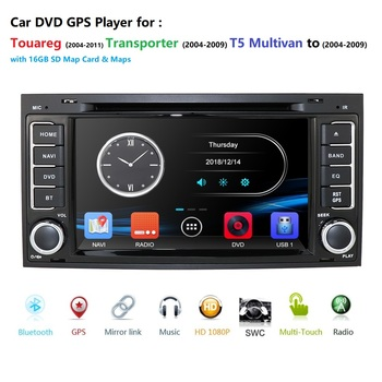 Car Monitor DVD Multimedia Car DVD player For VW TOUAREG T5 Multivan GPS RDS Bluetooth RDS Radio CAM-IN DVBT SWC AM/FM DAB+ GAME image