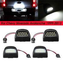 цена на 2pcs LED SMD Bulb for Chevy Silverado Avalanche 1999-2013 License Plate Light Lamp White Light Board Black Light Board