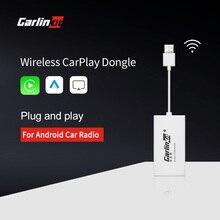 Carlinkit inalámbrico Carplay de enlace inteligente Apple CarPlay Dongle para Android navegación jugador Mini USB Carplay con Android Auto