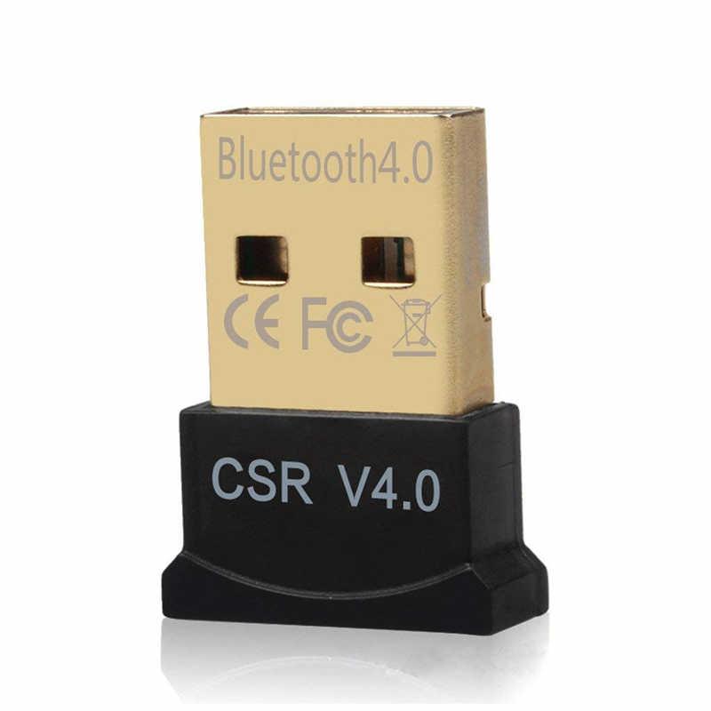 Mini USB bezprzewodowy CSR 4.0 nadajnik bluetooth na komputerze z systemem Windows V4.0 słuchawki na Bluetooth głośnik Audio muzyka odbiornik Adapter