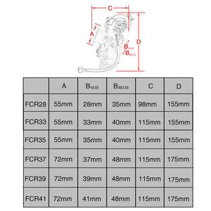 Image 2 - ZSDTRP Original 28 33 35 37 39 40 41mm Flatslide Carburetor FCR39 for KTM XR DR400 CRF450/650 KLX400/450 YZ450F Add Power 30%