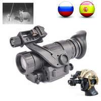 PVS14 lunette de Vision nocturne monoculaire 200M portée infrarouge IR NV portée de chasse avec monture Vision nocturne