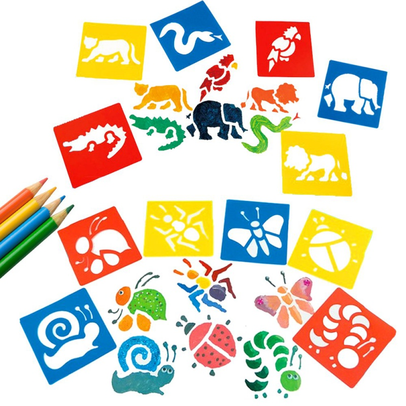 PP Plastic Painting Stencils DIY Washable Drawing Templates For Children Kids Painting Learning Child Painting Stencil