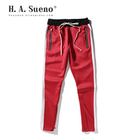H.A. Sueno 2019 BIG SALE Mens Trackpants High Street Red Pants For Men Hip Hop Style Long Sweatpants Drop Shipping /7