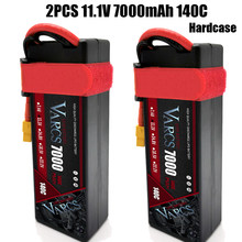2PCS VARCS Lipo Batteries 3S 11.1V 7000mAh 140C/280C HardCase for RC 1/8 /10 Car Off-Road Buggy Truck Boats Drone salash Parts