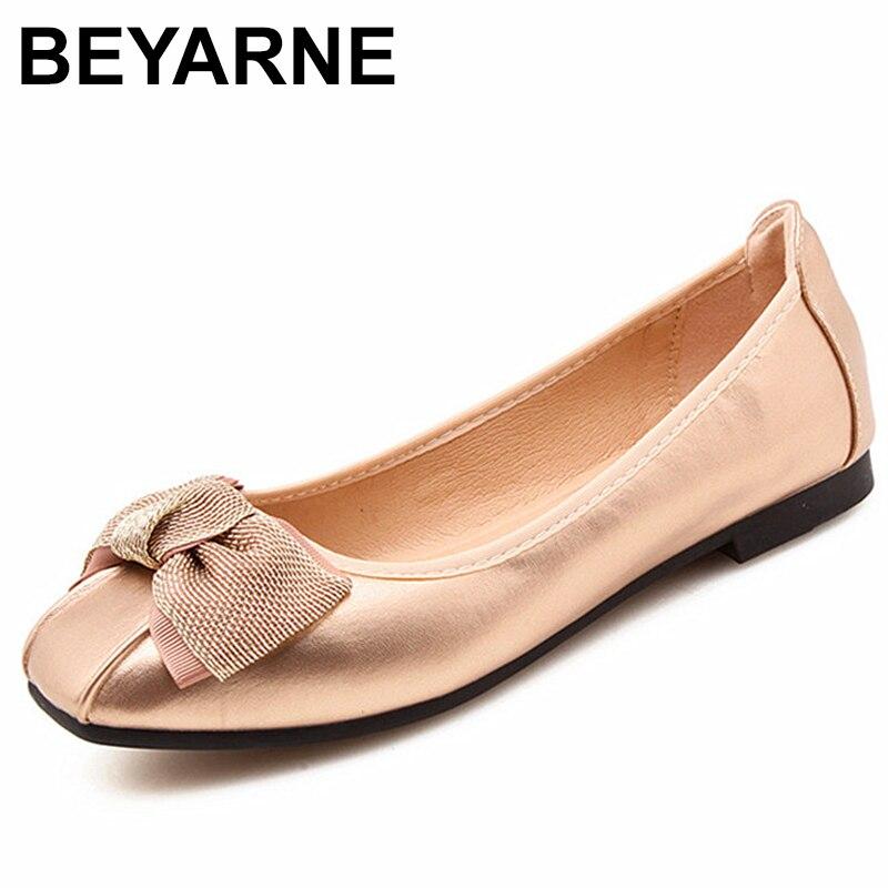 BEYARNESoft Foldable Ballerina Shoes Butterfly-knot Flats Women Slip On Shoes For Spring Summer Ballet Flats Teenage Girls Flat