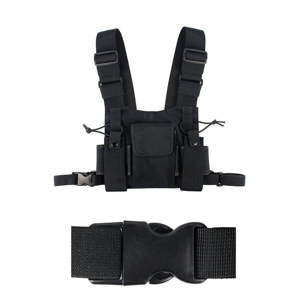 For Baofeng Radio Chest Harness Bag Front Pouch Case Bag Radio Chest Harness Vest Rig Carry Case For Motorola Walkie Talkie Bag