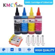 Kmcyinks 4 peças para hp364 cartucho de tinta com chip permanente para hp 364 364xl cartucho para hp b109a b110a b110c b110e b209a 7510