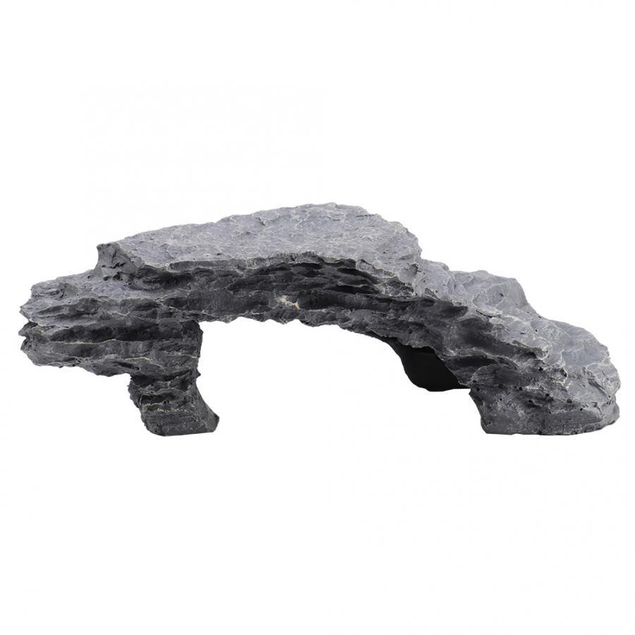 Resin Turtle Climbing Platform Hide Cave Aquarium Landscape Decor Amphibious Tortoise Basking Platform L Style-a Home Ornament