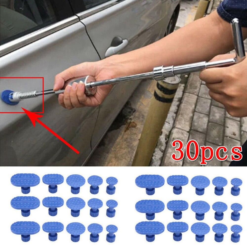 30pcs Car Suction Cup Paint Dent Repair Tool Car Motorcycle Pulling Tab Dent Removal Repair Tool Set Nylon Blue
