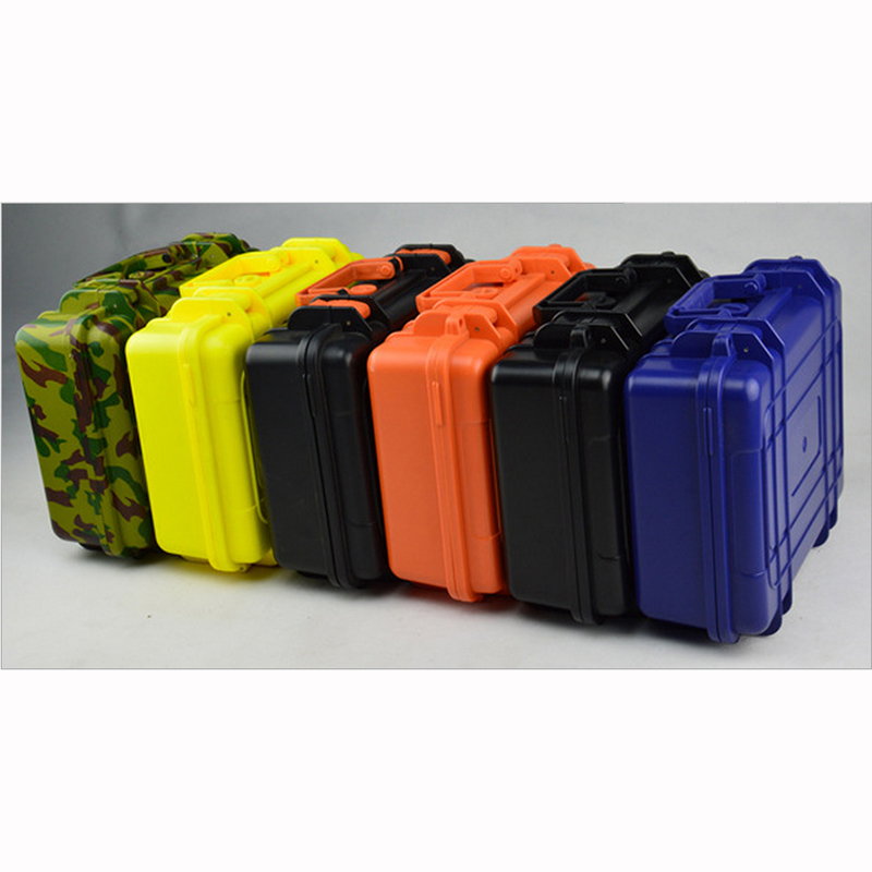 """""""ABS"""" įrankių dėžės įrankių dėžė. Atsparus smūgiams, sandarus, vandeniui atsparus įrangos dėklas su iš anksto supjaustytomis putplasčiais, nemokamas pristatymas 280X230X98MM"""