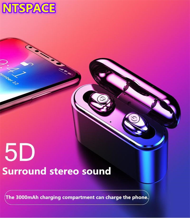 <font><b>TWS</b></font> Bluetooth Earphones Streo For iPhone Samsung Wireless Earbuds with Wireless Charging Case <font><b>5D</b></font> Stereo Earphones For Huawei image